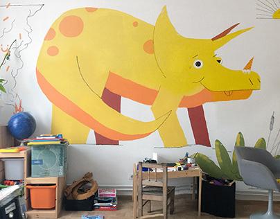 Ceratops mural