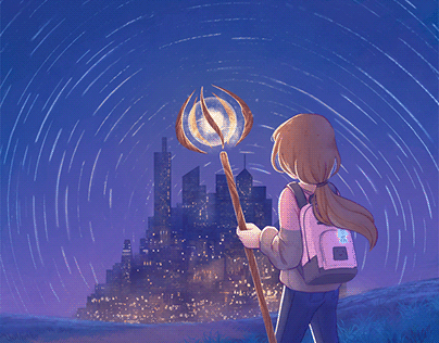 Into the City - Cover Illustration