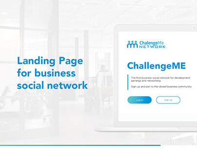 Landing Page for business network