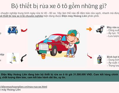 Bo thiet bi rua xe cho cua hang chuyen nghiep
