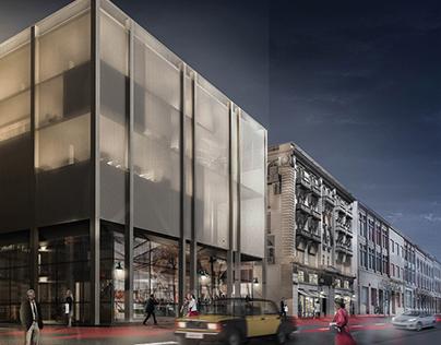 LE TRIO adaptive reuse building-Fouad`s street