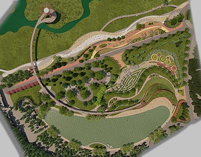 Conseptual landscape design / 3d visualisation
