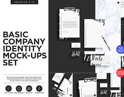 Basic Stationary Identity Mock-ups Set