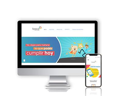 Sitio Web para Lipaco / Lipaco's Website
