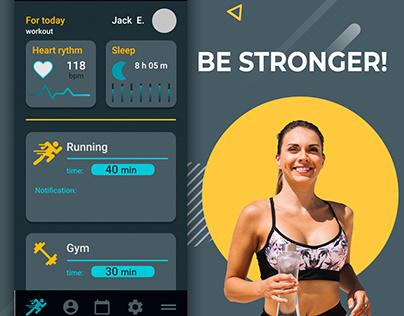 Be stronger | mobile app