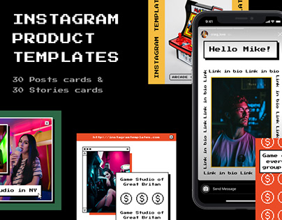 Electro Instagram Templates