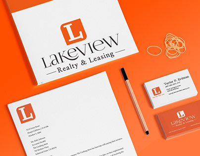 Lakeview Realty & Leasing Branding