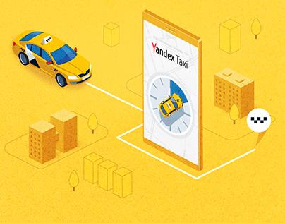 Yandex Taxi app UI concept animation