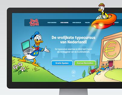 Donald Duck: DuckTypen Website Redesign