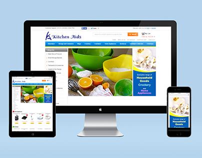 Kitchen Aids : Responsive Website (UI, UX)