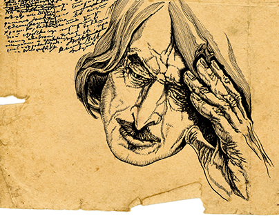 Illustrations to novel about Nikolai Gogol [4].