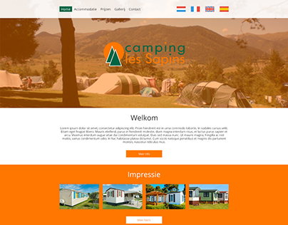Concept website Camping Les Sapins