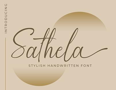 Sathela - Script Font