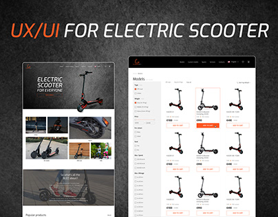 E-commerce Electric scooter