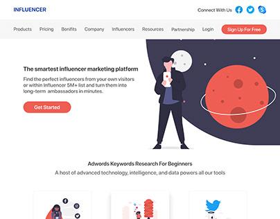 Influencer Website Landing Page