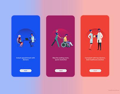 Walkthrough Screen - Doctor App