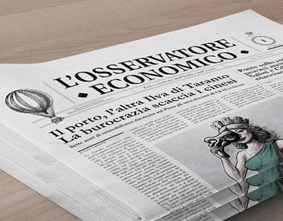 Editorial design for L'Osservatore Economico Magazine
