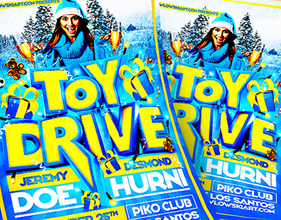 Toy Drive Flyer Template (DOWNLOAD .PSD NOW!)
