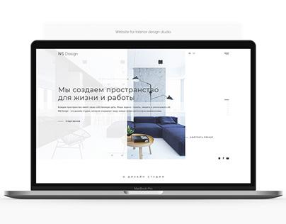 Website for Interior design studio
