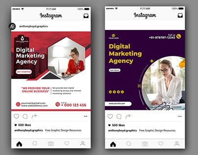 Digital Marketing Agency Social Media template