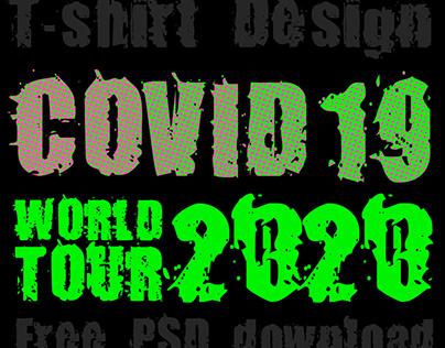 T-shirt design+free PSD file