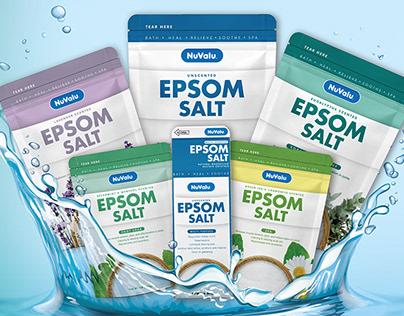 Nuvalu - Epsom Salt Packaging Design