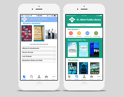 Bibliocommons App Redesign Concept
