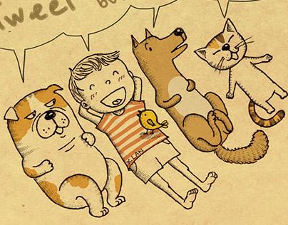 Cartoon (2). Them pets