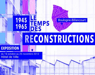 Exposition pour la Mairie de Boulogne-Billancourt