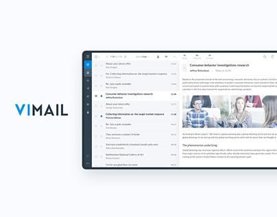 ViMail. E-mail client app UI for Windows