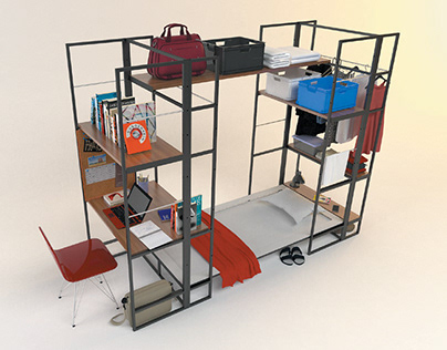 Flexible furniture system for students