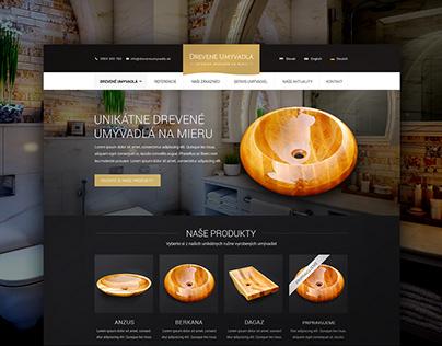 Website design for eshop with hand made washbasins