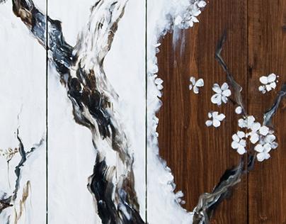 Seasons on wood