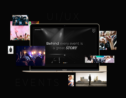 Events & Productions Modern Website Design - UI - UX