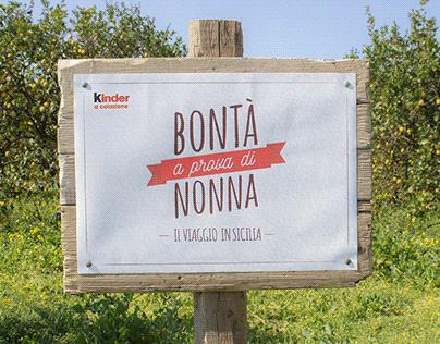 Kinder   Bontà a prova di Nonna - Il viaggio in Sicilia