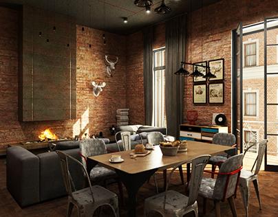Moscow Loft . Living room