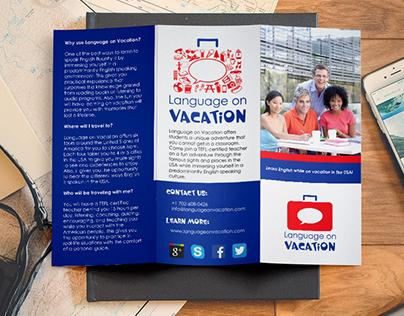 Language on Vacation Visual Identity Design
