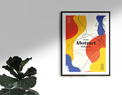 Floral Poster Design | Abstract Background Design