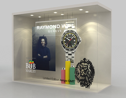 RAYMOND WEIL GENEVE WATCHES 3D SHOP FRONT CONCEPT