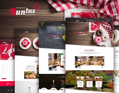 Buntus - Food & Restaurent PSD Template