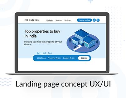 Real estate - Landing page   UX/UI Design