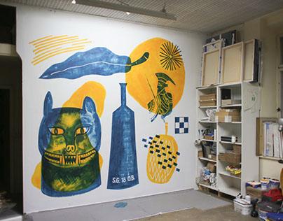 Studio mural - Berlin