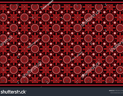 Ajrak Sindhi Traditional Pattern vector