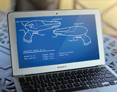 Blueprint Ray gun