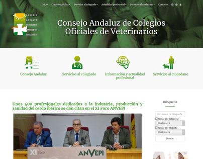 Web del Consejo Andaluz de Veterinarios