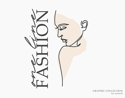 One Line Fashion. Graphic collection
