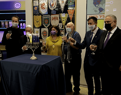Videography of candle lighting with Maccabi Tel Aviv
