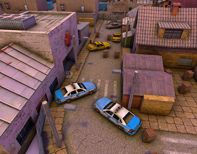 Environment of cover shooting game