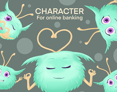 Character for online banking | character illustration
