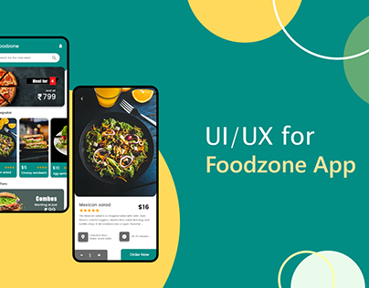 UI/UX for Foodzone App